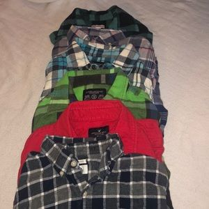 Lot of small men's flannels